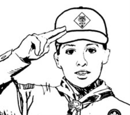 Three Finger Salute Drawing Give The Cub Scout Salute And