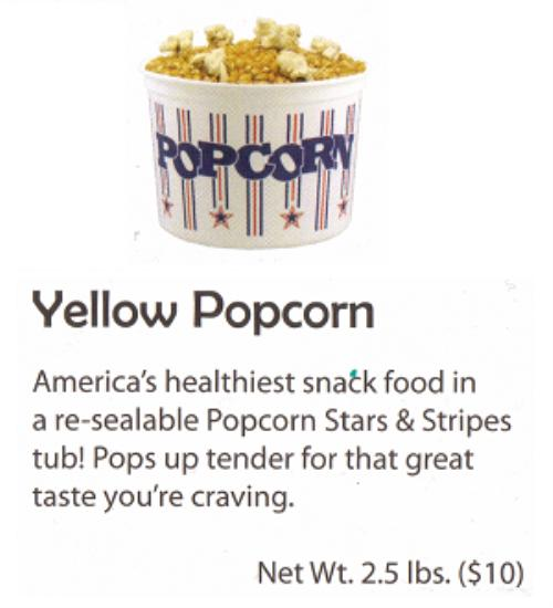 Yellow Popping Corn