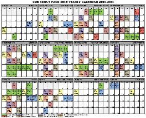 Public pack calendars cub scout pack 3049 holland for Boy scout calendar template