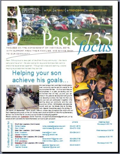 Pack 735 Intro Fly 2014-15